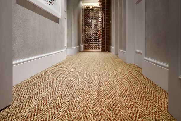 Seagrass_Herringbone_Red-Weft from Crucial Trading
